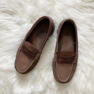 LL Bean Leather Nubuck Allagash Penny Loafers